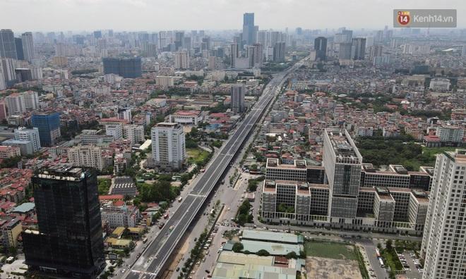 Cận cảnh cầu cạn Mai Dịch - Nam Thăng Long đã rải nhựa xong chờ ngày thông xe - ảnh 11