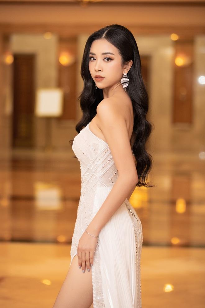 Dàn Hoa hậu Á hậu đổ bộ thảm đỏ họp báo HHVN 2020: Lương Thuỳ Linh đầy gợi cảm, Tiểu Vy đội vương miện 3 tỉ chiếm trọn spotlight - ảnh 7