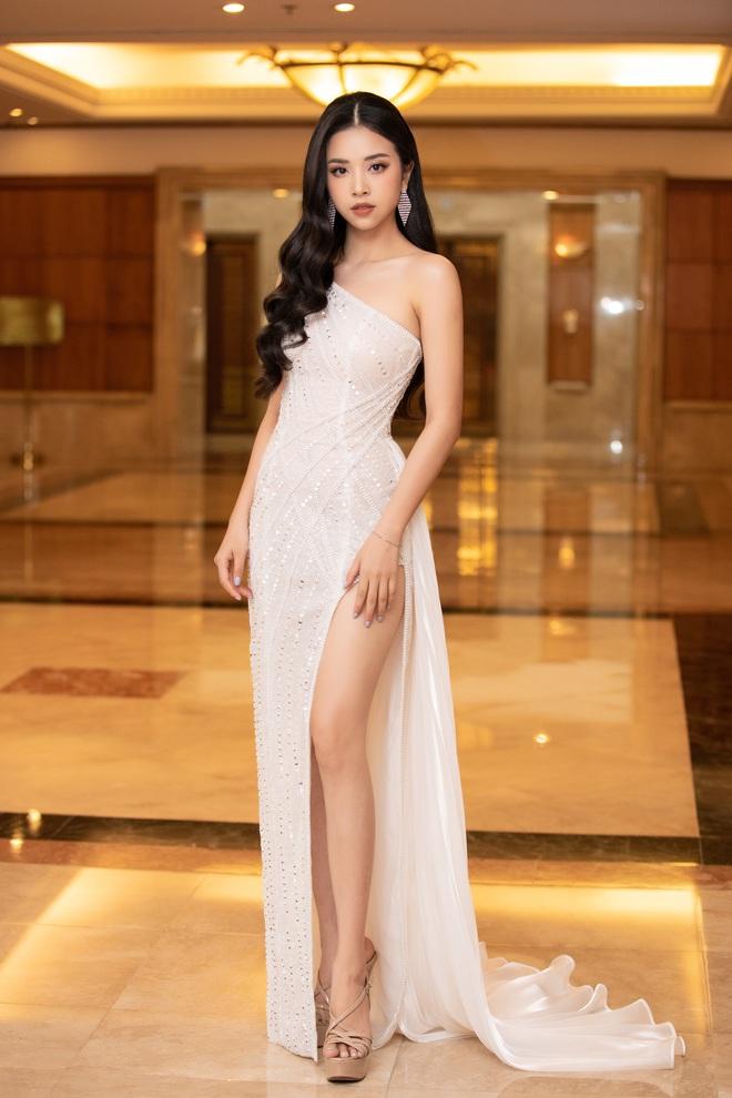 Dàn Hoa hậu Á hậu đổ bộ thảm đỏ họp báo HHVN 2020: Lương Thuỳ Linh đầy gợi cảm, Tiểu Vy đội vương miện 3 tỉ chiếm trọn spotlight - ảnh 8
