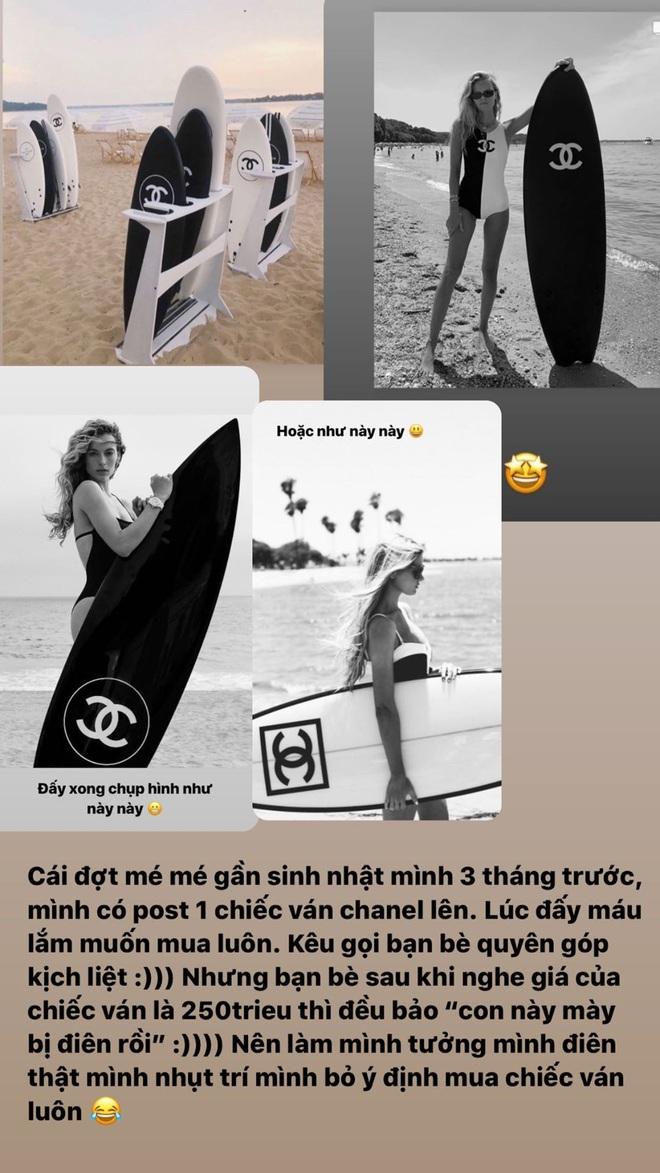 Giật mình trước độ hào phóng của Ngọc Trinh: Góp 100 triệu cho Chi Pu mua ván lướt sóng Chanel, liên tục mua đồ hiệu tặng chị em bạn dì - Ảnh 2.