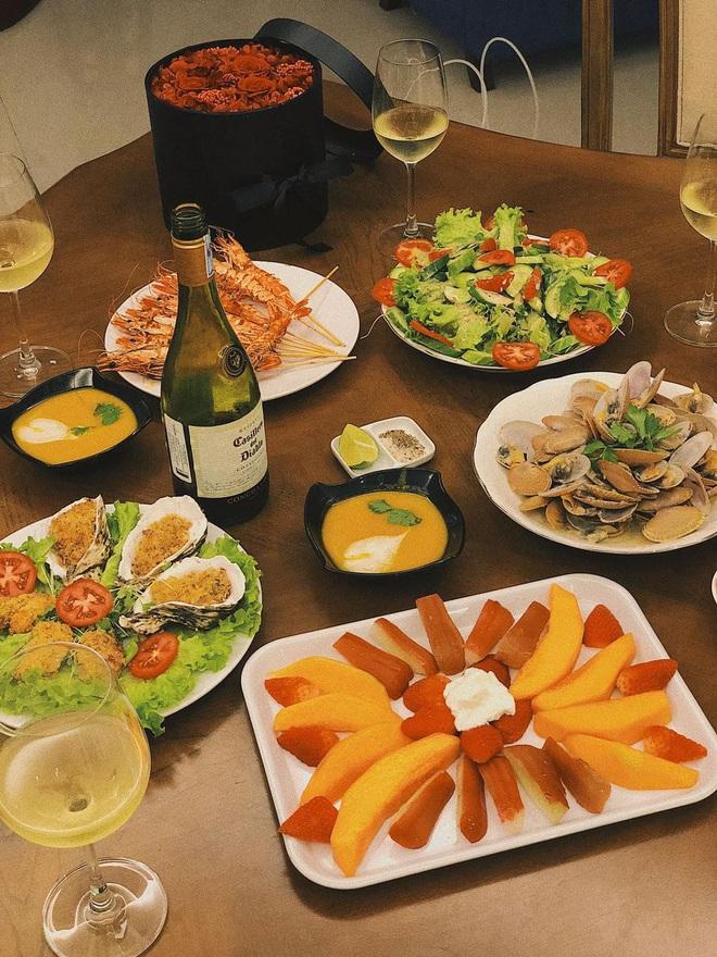 Vũ Ngọc Châm đứng ngoài hội gái đoảng với loạt món ăn tự nấu xịn như nhà hàng - ảnh 8