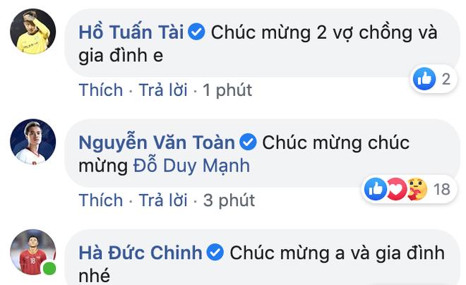 Dàn sao tuyển Việt Nam thi nhau chúc mừng Duy Mạnh lên chức, bố Quỳnh Anh cũng khoe ảnh bế cháu đầy hạnh phúc - Ảnh 2.