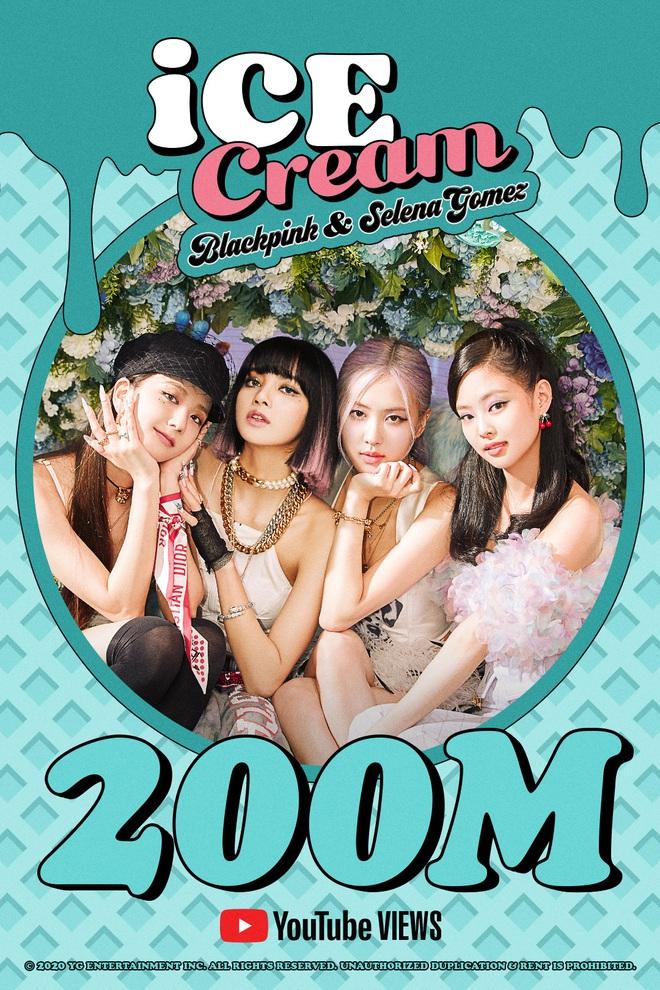 BLACKPINK có 2 poster ăn mừng trong 1 sáng: Ice Cream 200 triệu và How You Like That tiếp tục phá vỡ kỉ lục của PSY - Ảnh 1.