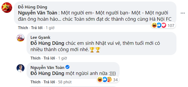 Nhận lời chúc mừng sinh nhật, ông chủ Hùng Dũng tiện thể mời khéo Văn Toàn về đầu quân cho Hà Nội FC - ảnh 2