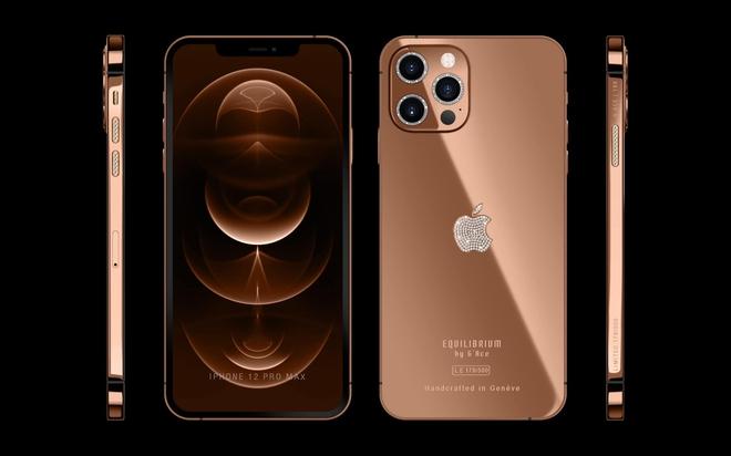 Đẳng cấp của sự chanh sả, mê mẩn chiếc iPhone 12 Pro Max được nạm vàng 18K và kim cương cực ấn tượng - ảnh 3