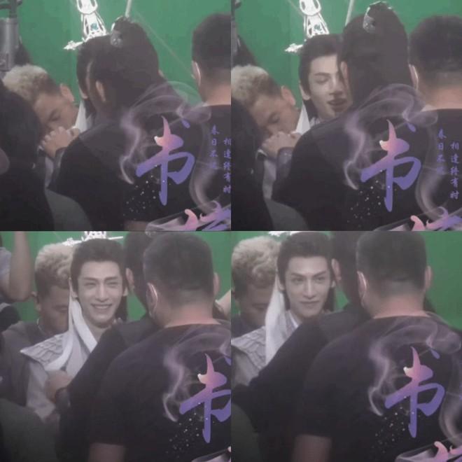 Trần Phi Vũ diệt sạch fan chỉ với hành động nghịch dây buộc tóc La Vân Hi ở hậu trường Hạo Y Hành  - Ảnh 1.