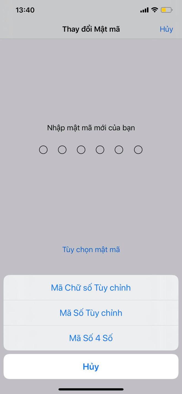 Mẹo hay giúp tùy ý thay đổi mật khẩu 4 số, 6 số hoặc cả chữ và số trên iPhone - ảnh 4