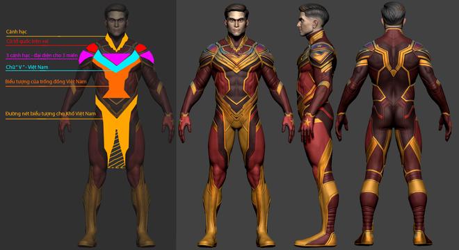 Thiết kế trang phục VINAMAN gây sốt vì siêu ngầu nhưng chú bé lại hơi khiêm tốn, hóa ra là có lý do cả! - ảnh 6