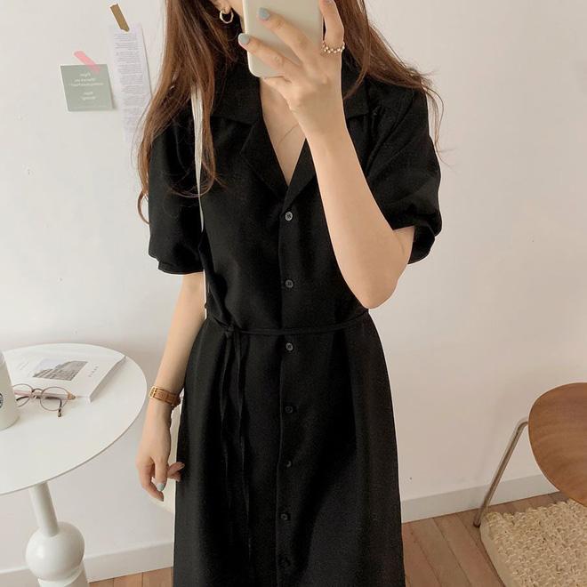 4 kiểu váy oversized mặc siêu xinh, giấu dáng cực khéo nên đang được hội gái Hàn chăm chỉ lăng xê - ảnh 3