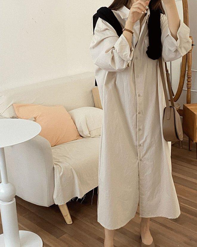4 kiểu váy oversized mặc siêu xinh, giấu dáng cực khéo nên đang được hội gái Hàn chăm chỉ lăng xê - ảnh 2