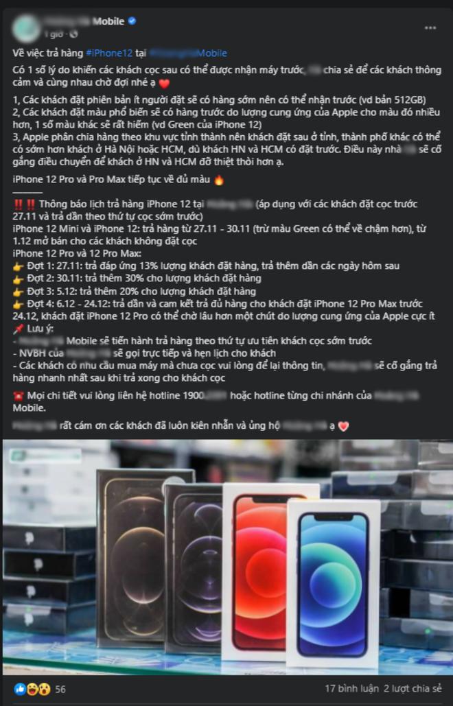 iPhone 12 chính hãng cháy hàng, một đại lý nổi tiếng dính lùm xùm vì nhận cọc sớm nhưng chưa có hàng trả khách? - ảnh 7