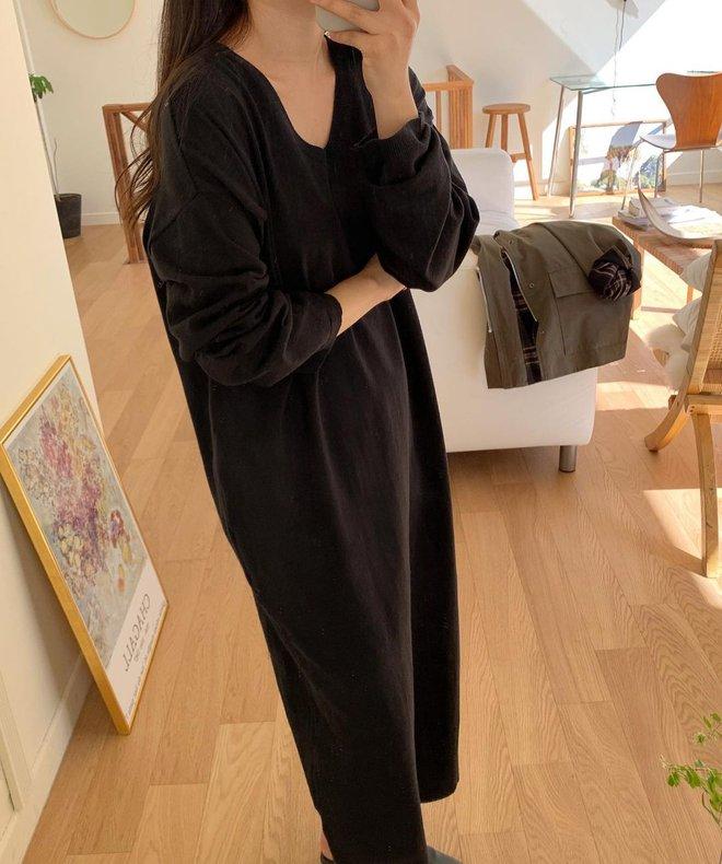 4 kiểu váy oversized mặc siêu xinh, giấu dáng cực khéo nên đang được hội gái Hàn chăm chỉ lăng xê - ảnh 12