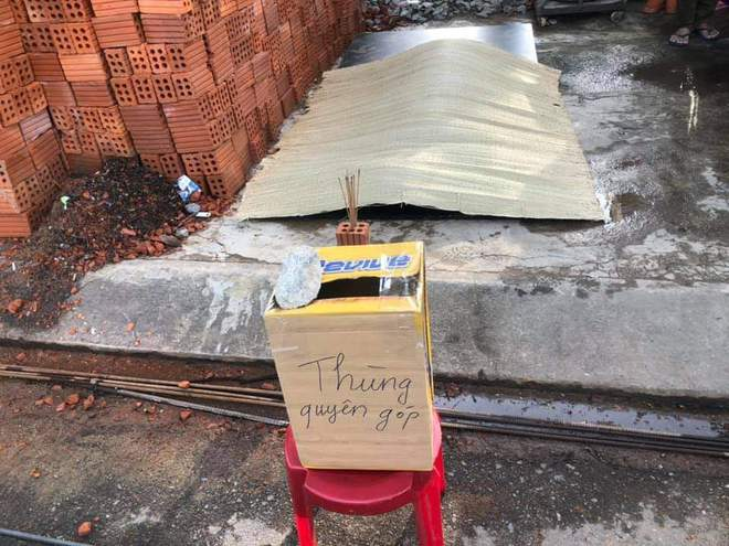 Một công nhân tử vong khi đang xây nhà, người dân lập thùng quyên góp để giúp đỡ - ảnh 2