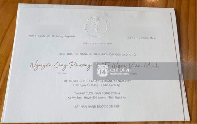 Rò rỉ thiệp cưới chính thức của Công Phượng, hé lộ thông tin về địa điểm tổ chức quá đặc biệt tại Nghệ An - ảnh 1