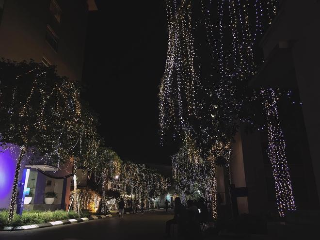 Trường con nhà giàu ĐH Thăng Long lại trang trí Giáng sinh đẹp mê hồn, đố trường nào làm lại - ảnh 3