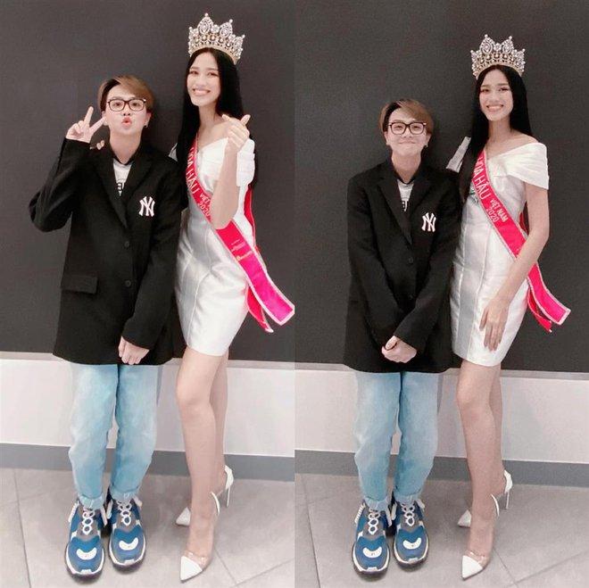 Góc bối rối: Dụi mắt vài lần mới nhận ra tân Hoa hậu Việt Nam Đỗ Thị Hà bên Duy Khánh, gương mặt hốc hác đáng lo - ảnh 1