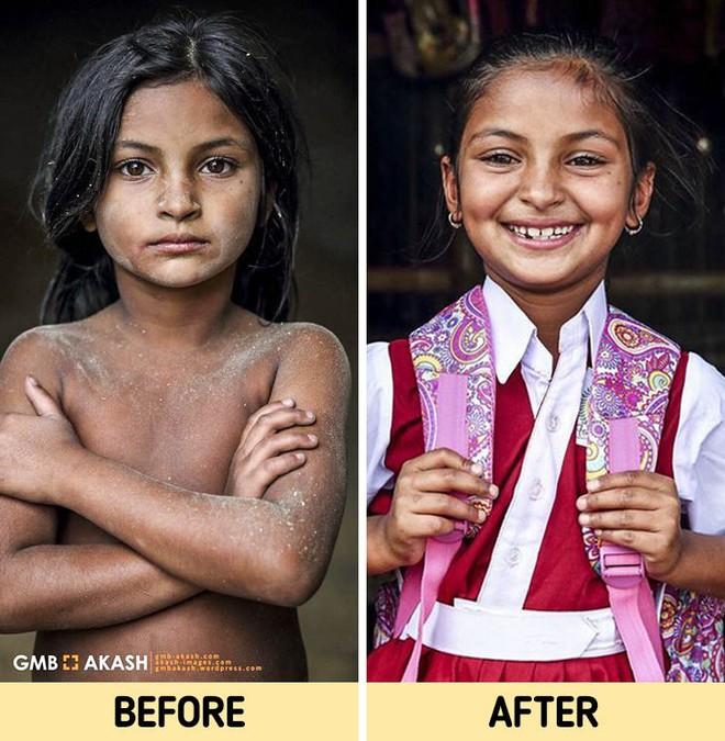 Chùm ảnh trẻ em nghèo trước và sau khi được giúp đỡ để có cơ hội đến trường đi học như bạn bè đồng trang lứa gây xúc động mạnh - ảnh 4