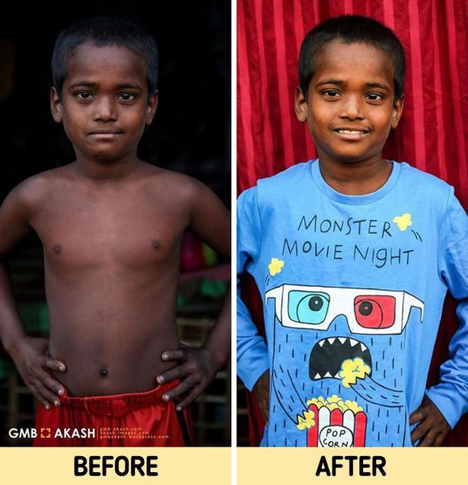 Chùm ảnh trẻ em nghèo trước và sau khi được giúp đỡ để có cơ hội đến trường đi học như bạn bè đồng trang lứa gây xúc động mạnh - ảnh 13
