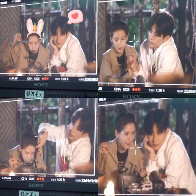Thành Nghị - Trương Dư Hi húp mì gói xì xụp ở phim trường tình tứ cực mà fan nhất quyết không chịu ship! - Ảnh 2.