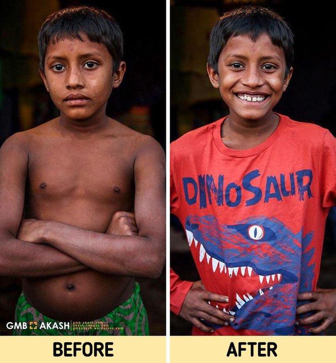 Chùm ảnh trẻ em nghèo trước và sau khi được giúp đỡ để có cơ hội đến trường đi học như bạn bè đồng trang lứa gây xúc động mạnh - ảnh 15