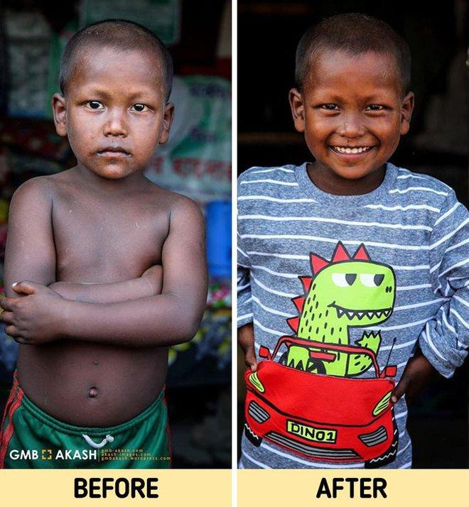 Chùm ảnh trẻ em nghèo trước và sau khi được giúp đỡ để có cơ hội đến trường đi học như bạn bè đồng trang lứa gây xúc động mạnh - ảnh 16