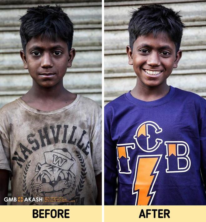 Chùm ảnh trẻ em nghèo trước và sau khi được giúp đỡ để có cơ hội đến trường đi học như bạn bè đồng trang lứa gây xúc động mạnh - ảnh 12
