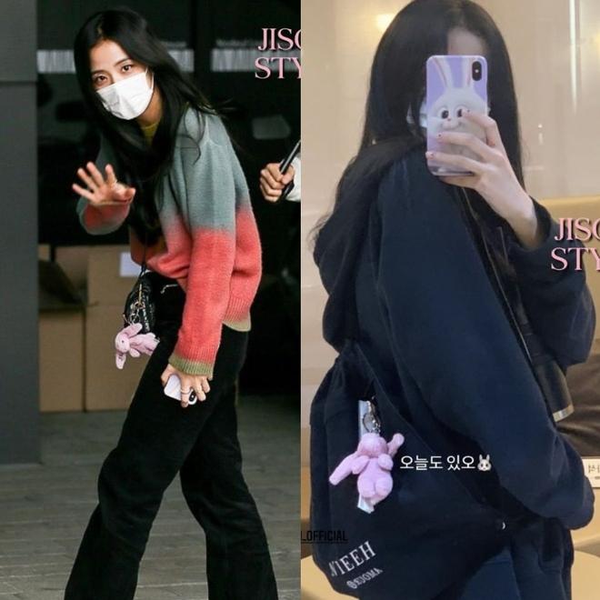 Bắt chước Jisoo, Lisa sắm móc khóa thú bông treo túi siêu cute - ảnh 5