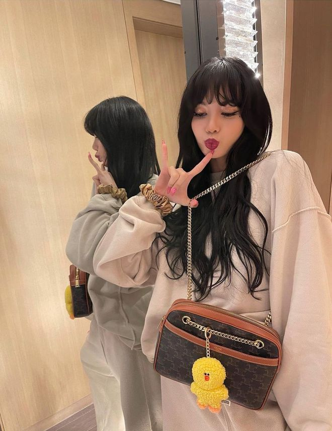 Bắt chước Jisoo, Lisa sắm móc khóa thú bông treo túi siêu cute - ảnh 8