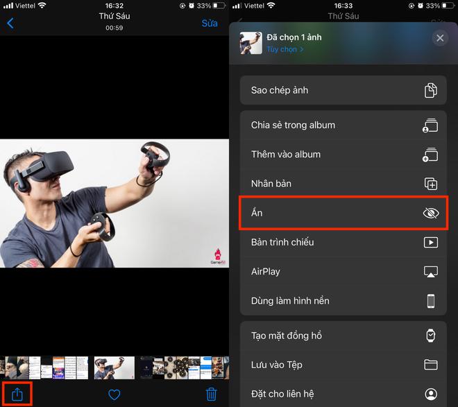 Mẹo giấu ảnh nóng, ảnh riêng tư rất đơn giản trên iPhone - Ảnh 1.