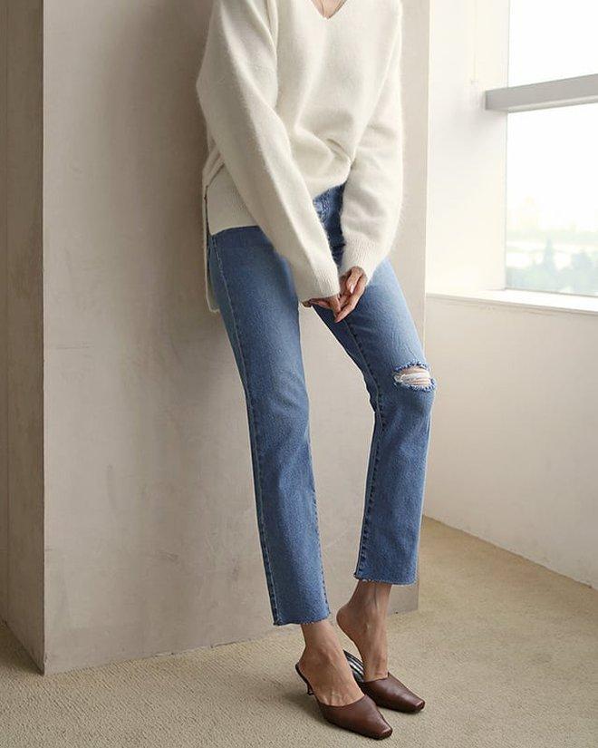 Chân mắc 1 trong các khuyết điểm sau thì bạn hãy ghim ngay 4 chiêu để chọn quần jeans cho chuẩn - ảnh 8