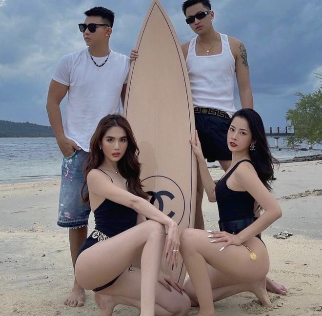 Ngọc Trinh và Chi Pu đợi mãi mới đến ngày ôm phản lao ra biển, khoe dáng nóng bỏng bên chiếc ván 250 triệu - Ảnh 9.