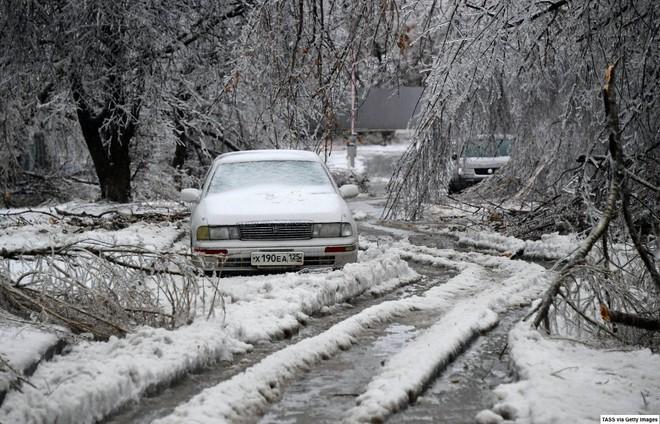 Loạt hình ảnh trong mùa đông khắc nghiệt, băng tuyết trắng xoá ở nước Nga chỉ nhìn thôi cũng đủ thấy rét run cầm cập - Ảnh 8.