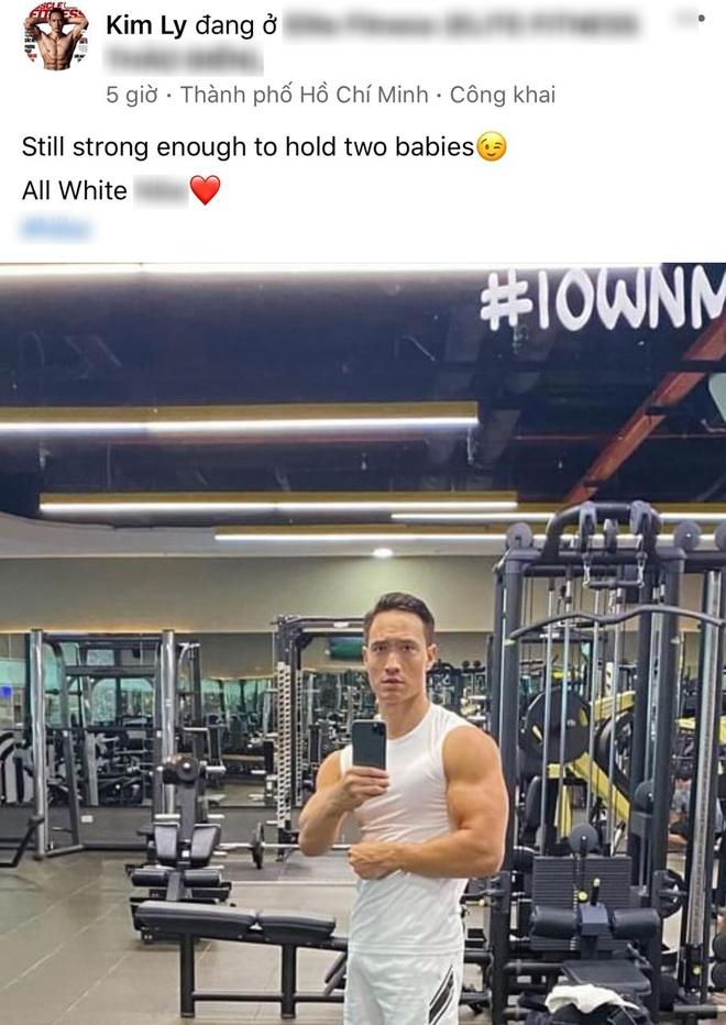 """Kim Lý khoe ảnh tập gym để có được cánh tay """"đủ ẵm 2 bé sinh đôi"""", nhưng có cần phải cuồn cuộn cơ bắp thế này không? - Ảnh 2."""