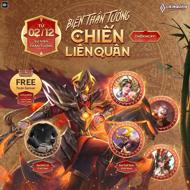 Liên Quân Mobile: Game thủ sẽ được nhận miễn phí trang phục Việt bậc S  Hữu Hạn cực dễ dàng - Ảnh 1.