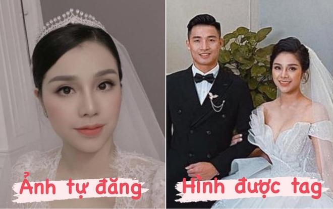 So ảnh cưới của bà xã Tư Dũng khi tự đăng và được tag, liệu có khác nhau không nhỉ? - ảnh 1