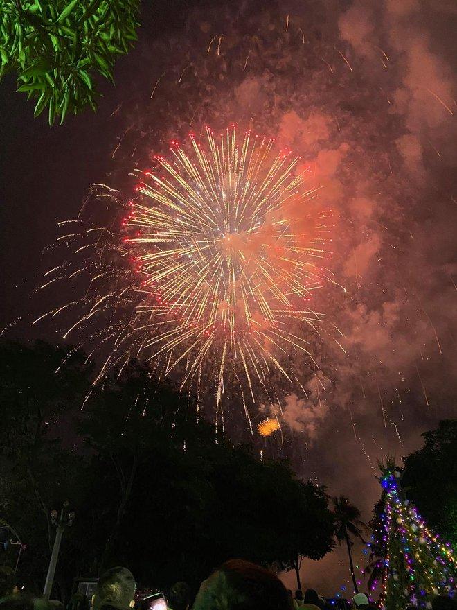 Pháo hoa đã rực sáng bầu trời cả nước, chúc mừng năm mới 2021 - Ảnh 9.