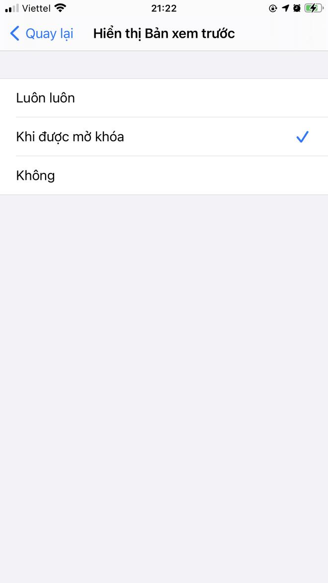 Cách ẩn ngay nội dung thông báo trên màn hình khóa iPhone với vài thao tác đơn giản - ảnh 5