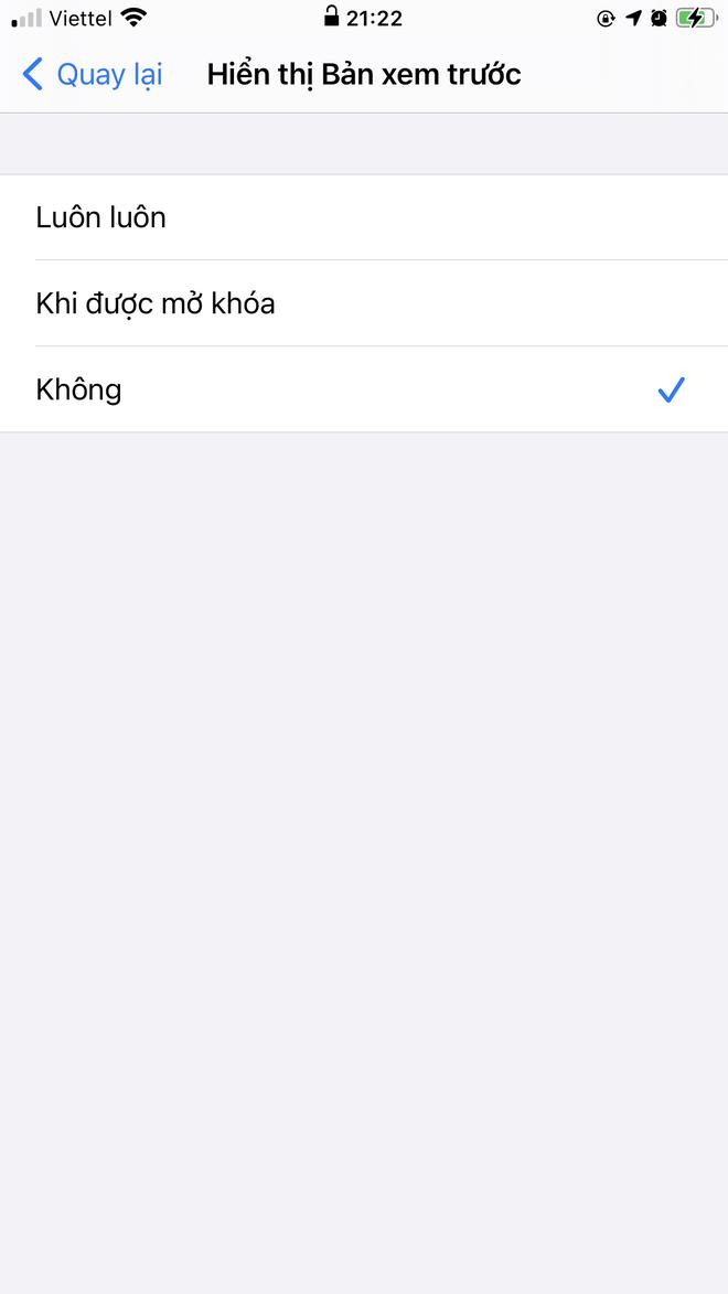 Cách ẩn ngay nội dung thông báo trên màn hình khóa iPhone với vài thao tác đơn giản - ảnh 6
