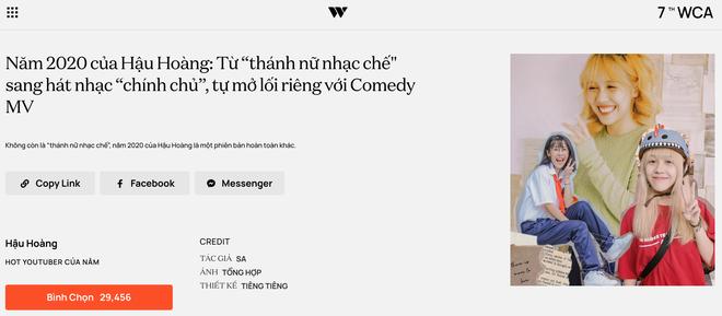 """Dàn hot YouTuber tranh vote tại WeChoice: Hậu Hoàng đối đầu Thiên An, Jenny Huỳnh đua với """"tiền bối"""" Ẩm Thực Mẹ Làm - ảnh 2"""