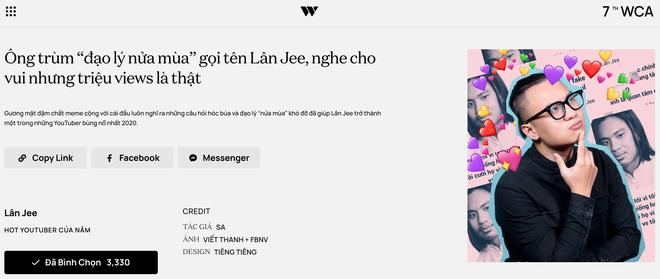 """Dàn hot YouTuber tranh vote tại WeChoice: Hậu Hoàng đối đầu Thiên An, Jenny Huỳnh đua với """"tiền bối"""" Ẩm Thực Mẹ Làm - ảnh 10"""