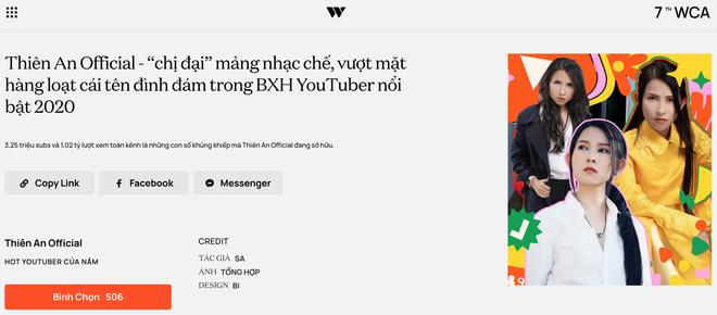 """Dàn hot YouTuber tranh vote tại WeChoice: Hậu Hoàng đối đầu Thiên An, Jenny Huỳnh đua với """"tiền bối"""" Ẩm Thực Mẹ Làm - ảnh 12"""