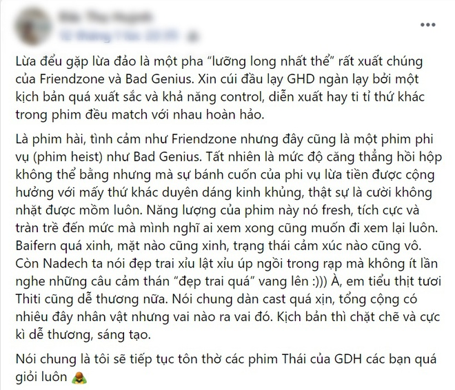 Netizen chấm điểm cao tuyệt đối cho Lừa Đểu Gặp Lừa Đảo của Baifern, bóc phốt phim khiến dân tình cười đau ruột - ảnh 10