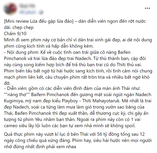 Netizen chấm điểm cao tuyệt đối cho Lừa Đểu Gặp Lừa Đảo của Baifern, bóc phốt phim khiến dân tình cười đau ruột - ảnh 4