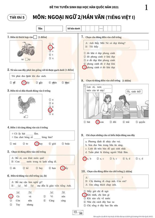 Đáp án môn tiếng Việt trong kỳ thi Đại học Hàn Quốc: Lắt léo vô cùng - ảnh 1