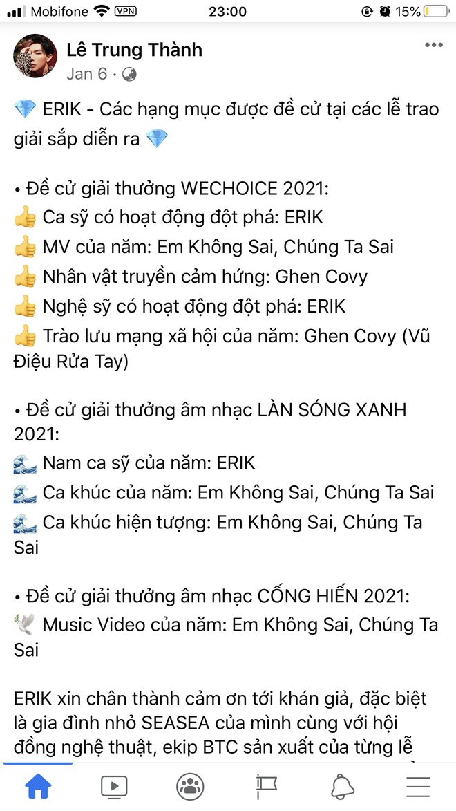 Vbiz rần rần vì WeChoice Awards 2020: Sao Việt đăng đầy newsfeed, fanpage NS Chí Tài chia sẻ đầy xúc động, Binz - Hoà Minzy gấp rút kêu gọi - ảnh 11