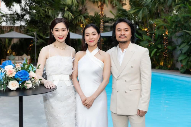 Đặng Thu Thảo tái xuất xinh đẹp đỉnh cao trong buổi tụ họp, Đạo diễn HHVN bỗng hé lộ cuộc sống hôn nhân của nàng Hậu - Ảnh 3.