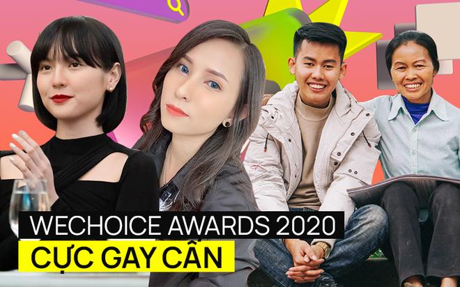 WeChoice Awards 2020 tranh nhau từng phiếu vote: Căng nhất ở Hot YouTuber Của Năm, Hải Tú dẫn đầu Rising GenZ nhưng 30 chưa phải Tết? - ảnh 1