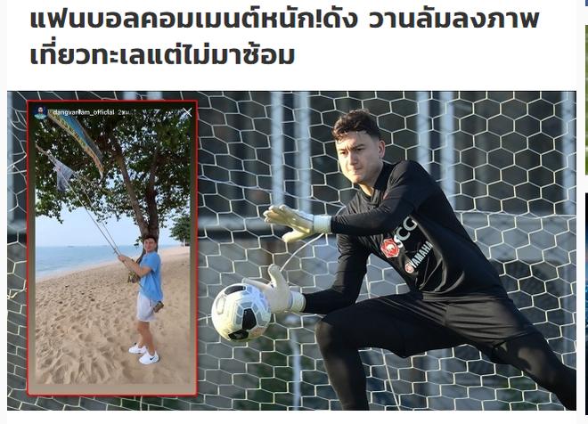 Giữa lúc tranh cãi cực căng với Muangthong United, Văn Lâm đăng video thảnh thơi chơi xích đu với bạn gái gây bão - ảnh 2