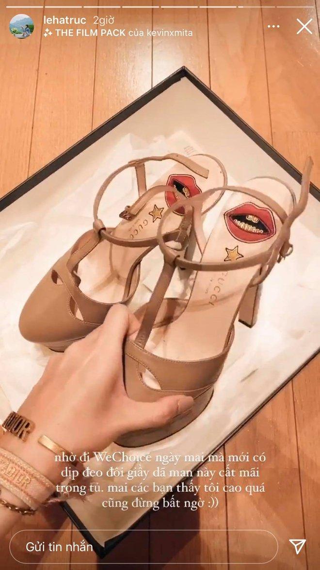 Gái xinh xúng xính chuẩn bị dự WeChoice Awards, Hà Trúc lục tủ chặt chém thảm đỏ với giày cao gót 14cm - ảnh 4