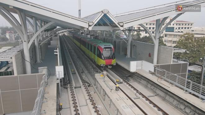 Đoàn tàu đầu tiên của tuyến đường sắt đô thị l Nhổn - Ga Hà Nội chính thức lăn bánh, bước vào giai đoạn thử nghiệm liên động - ảnh 7